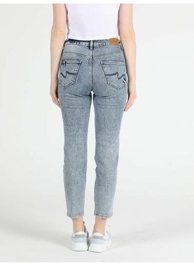 Colin's 891 Maya Slim Fit Orta Bel Rahat Kesim Paça Kadın Jean Pantolon İndigo